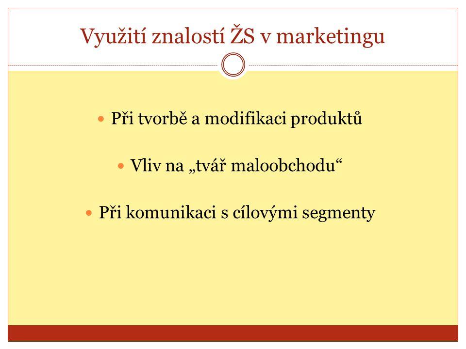 Využití znalostí ŽS v marketingu