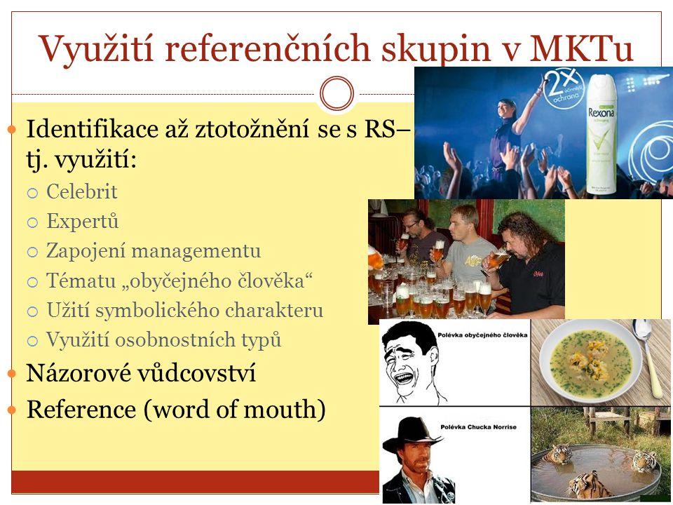 Využití referenčních skupin v MKTu