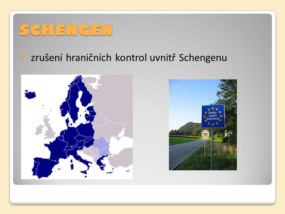SCHENGEN zrušení hraničních kontrol uvnitř Schengenu