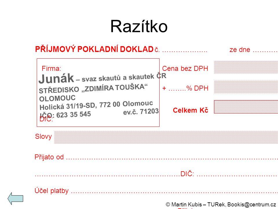 Razítko Junák – svaz skautů a skautek ČR