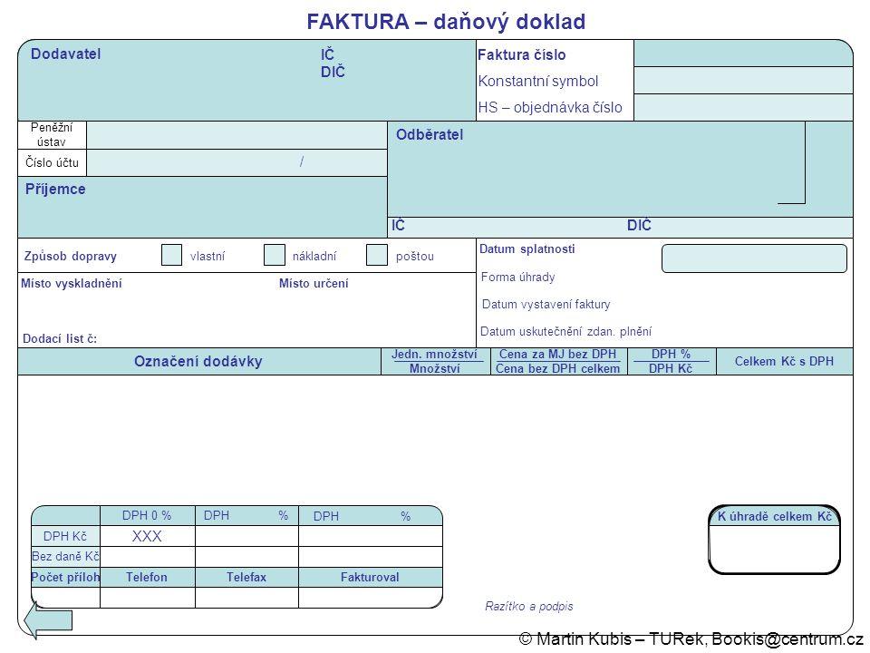 FAKTURA – daňový doklad