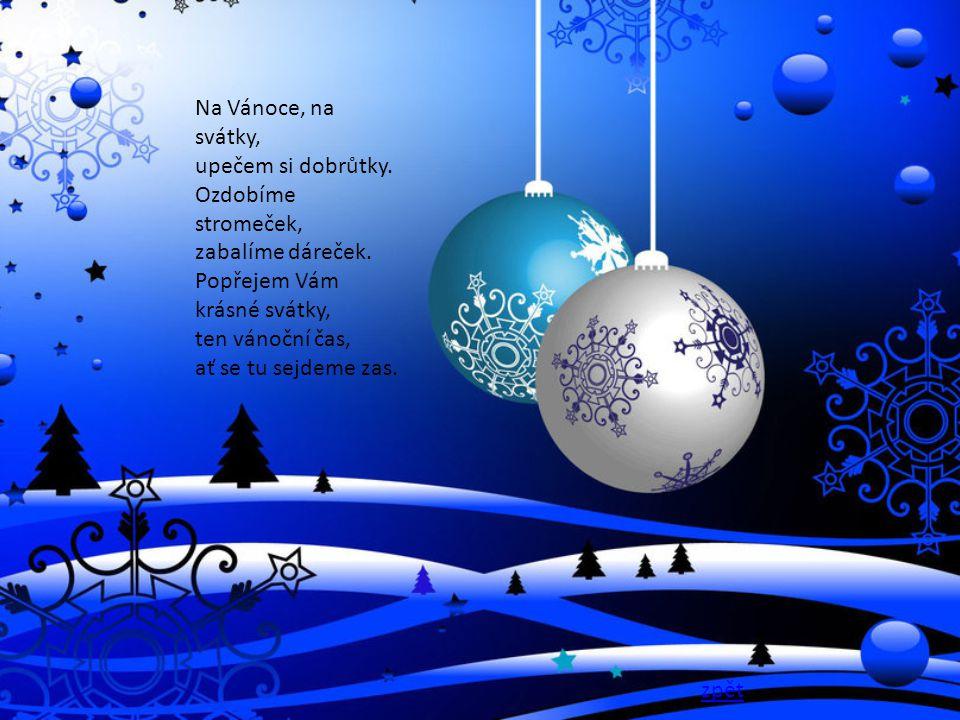 Na Vánoce, na svátky, upečem si dobrůtky