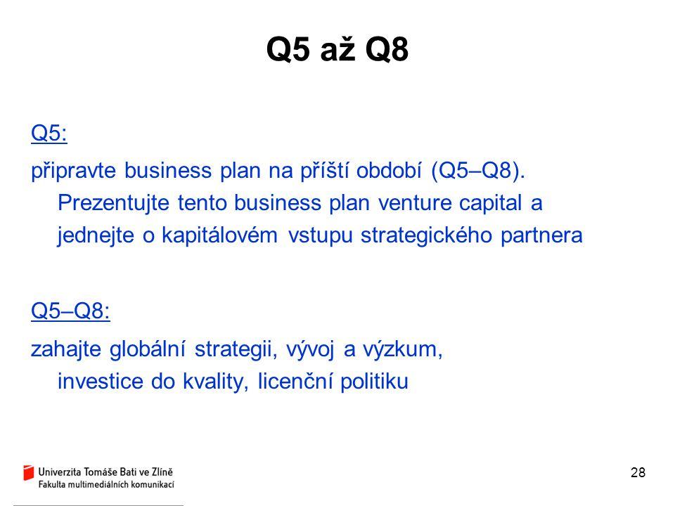 Q5 až Q8 Q5: