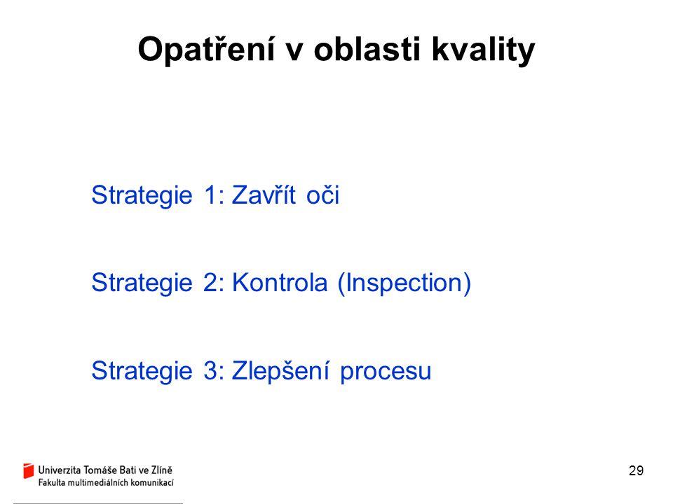 Opatření v oblasti kvality