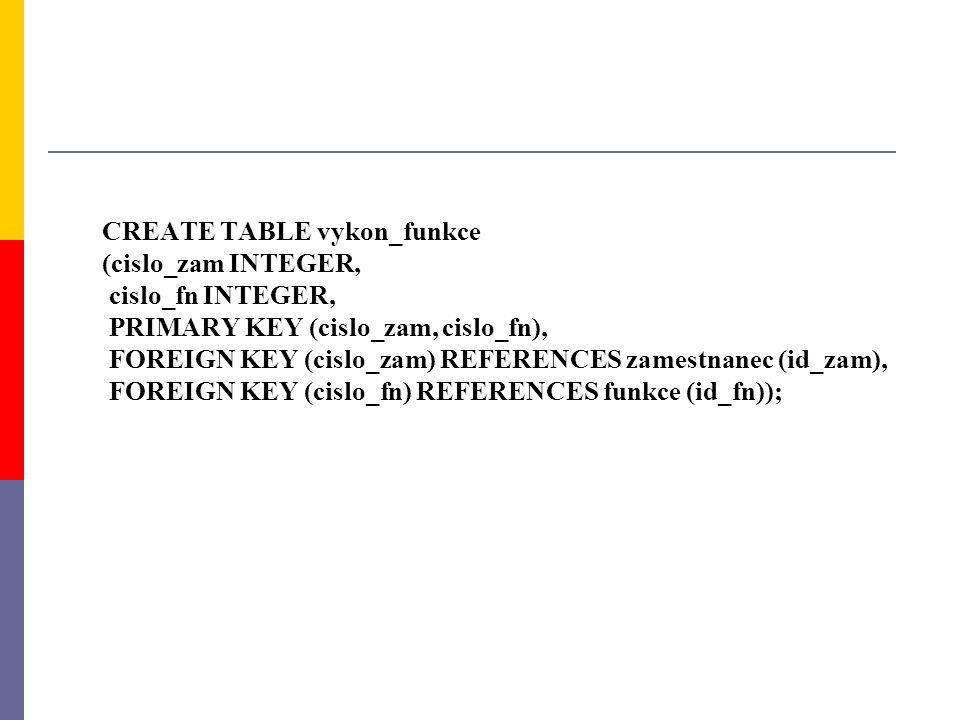 CREATE TABLE vykon_funkce
