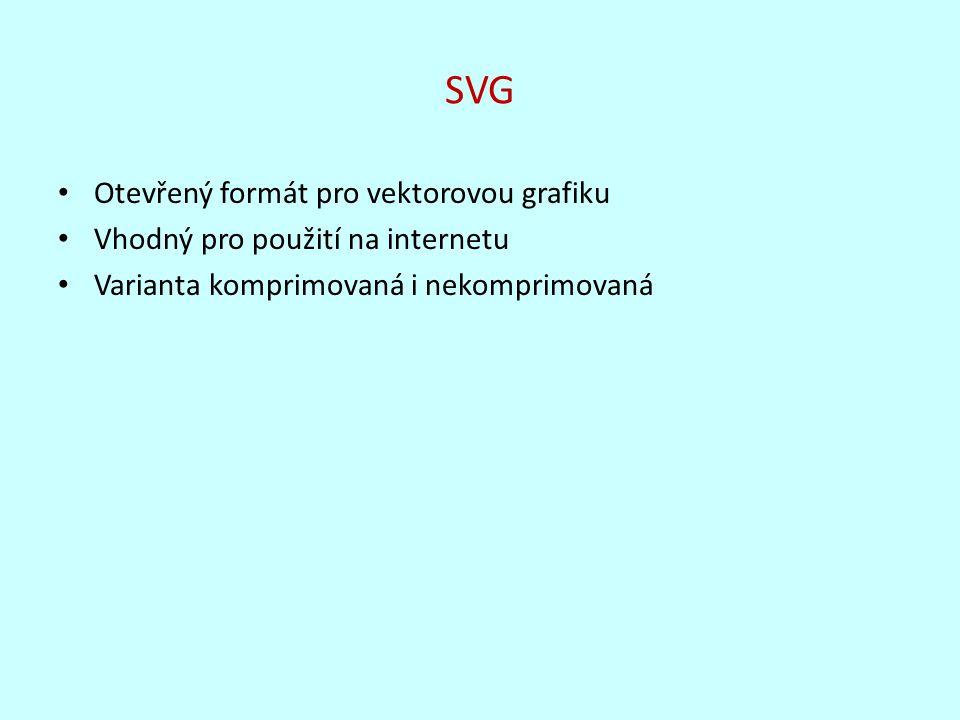 SVG Otevřený formát pro vektorovou grafiku