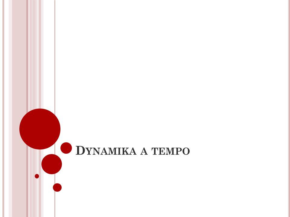 Dynamika a tempo