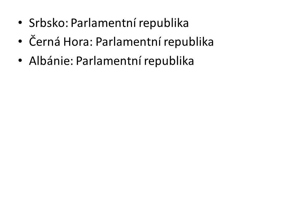 Srbsko: Parlamentní republika