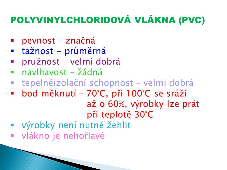 POLYVINYLCHLORIDOVÁ VLÁKNA (PVC)