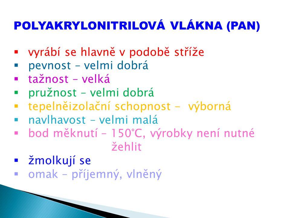 POLYAKRYLONITRILOVÁ VLÁKNA (PAN)