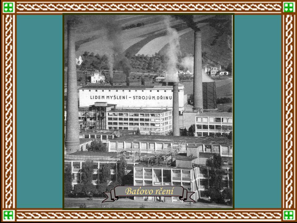 Baťovo rčení Náměstí Práce a Baťovy továrny
