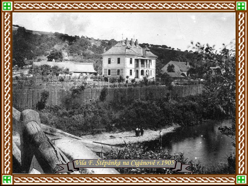 Kovářská ulice – později Bartošova r.1908 – Nad kostelní ulice