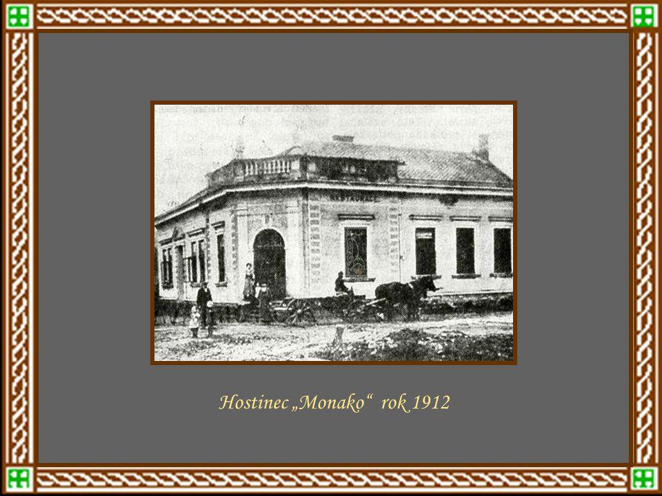 """mezi léty 1910 - 1920 Hostinec """"Monako rok 1912"""