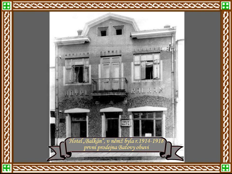 r.1912 - Panská cihelna na Růmech Měšťanská škola - rok 1915