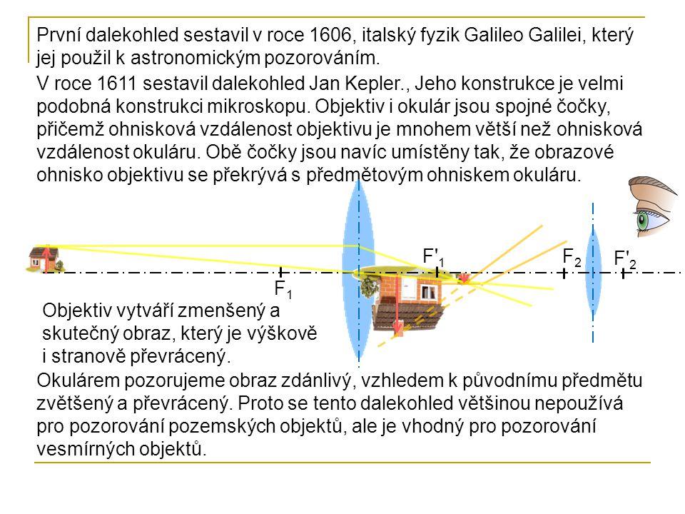 První dalekohled sestavil v roce 1606, italský fyzik Galileo Galilei, který jej použil k astronomickým pozorováním.