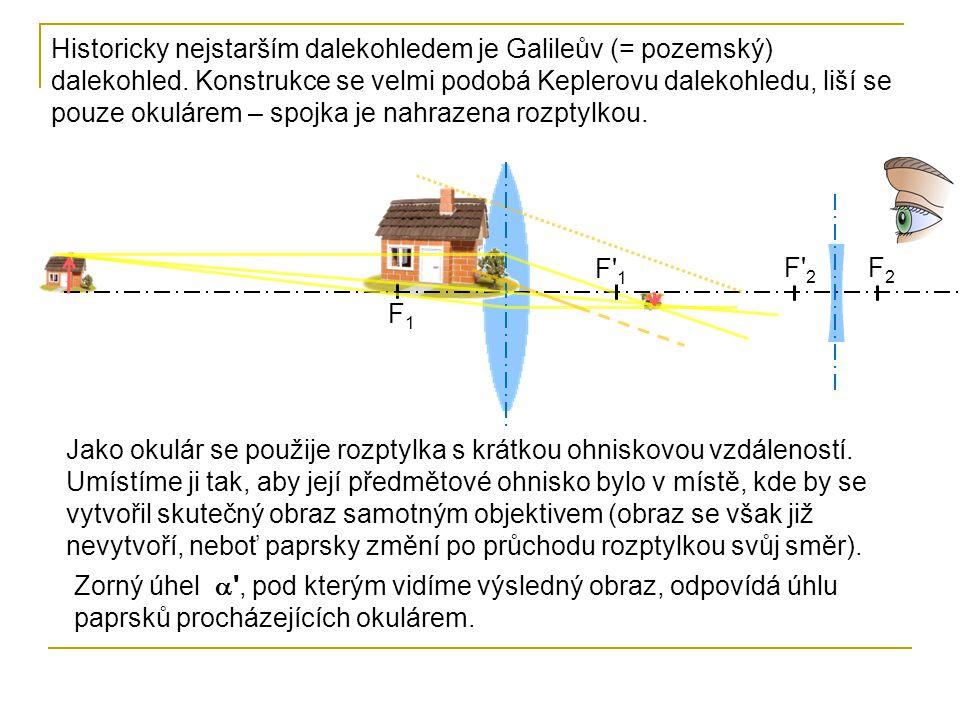 Historicky nejstarším dalekohledem je Galileův (= pozemský) dalekohled