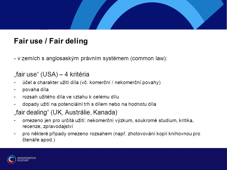 "Fair use / Fair deling ""fair use (USA) – 4 kritéria"