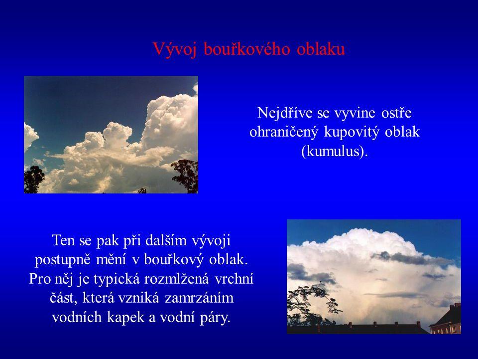 Vývoj bouřkového oblaku