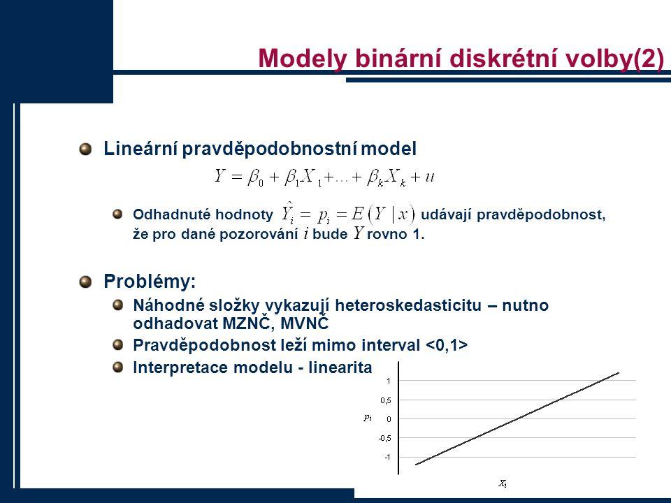 Modely binární diskrétní volby(2)