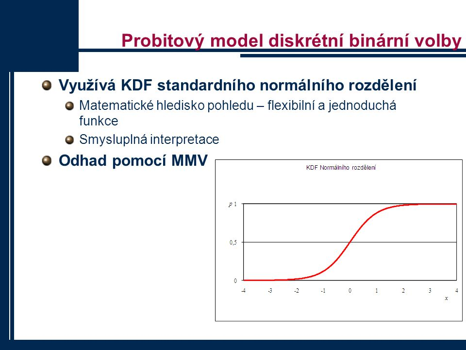 Probitový model diskrétní binární volby