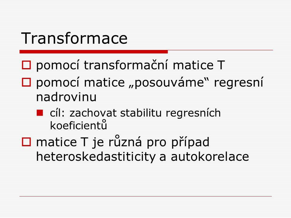 Transformace pomocí transformační matice T