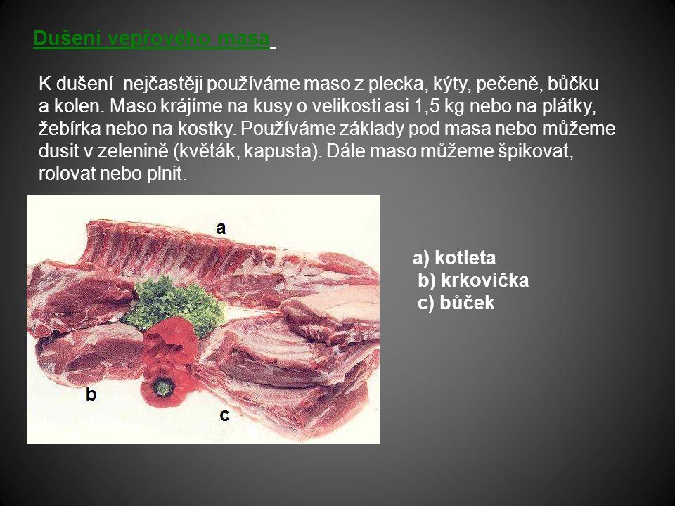 Dušení vepřového masa