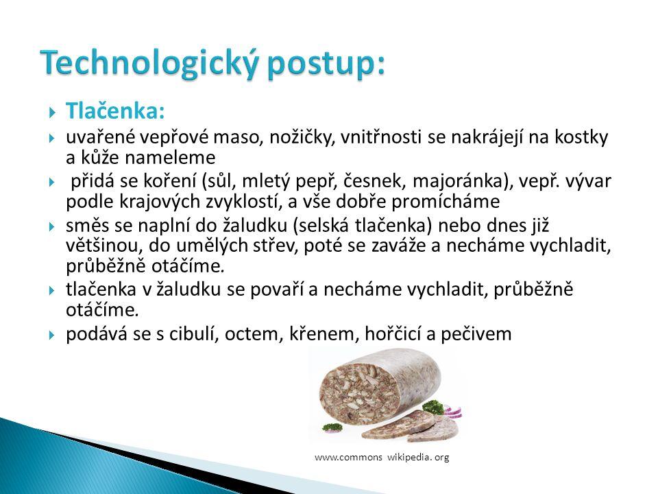 Technologický postup: