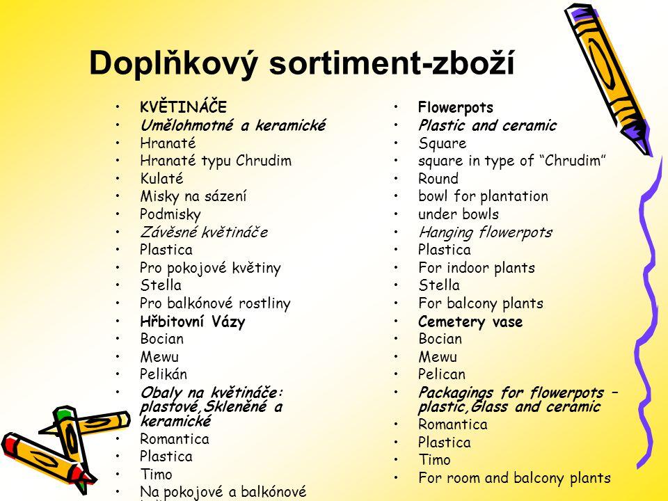Doplňkový sortiment-zboží