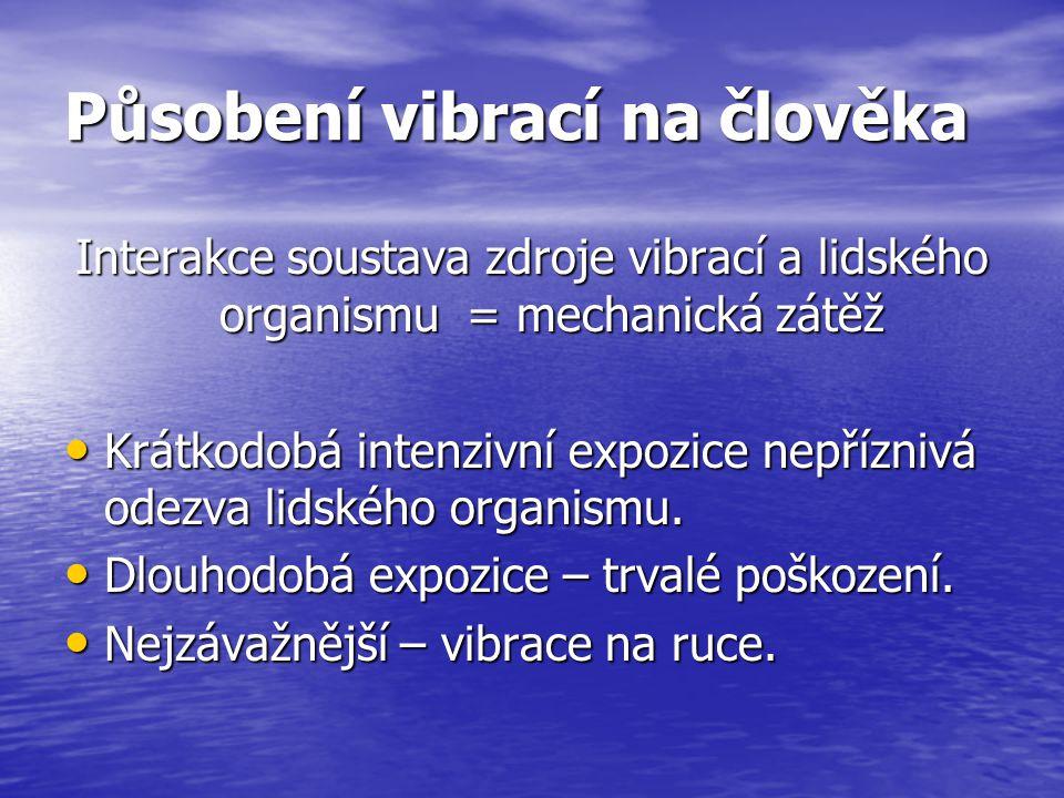 Působení vibrací na člověka