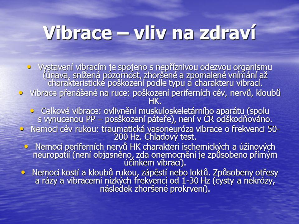 Vibrace – vliv na zdraví