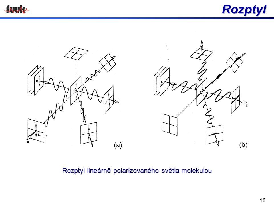 Rozptyl lineárně polarizovaného světla molekulou