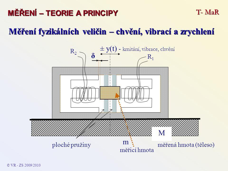 Měření fyzikálních veličin – chvění, vibrací a zrychlení