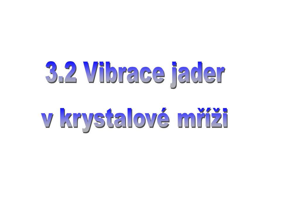 3.2 Vibrace jader v krystalové mříži