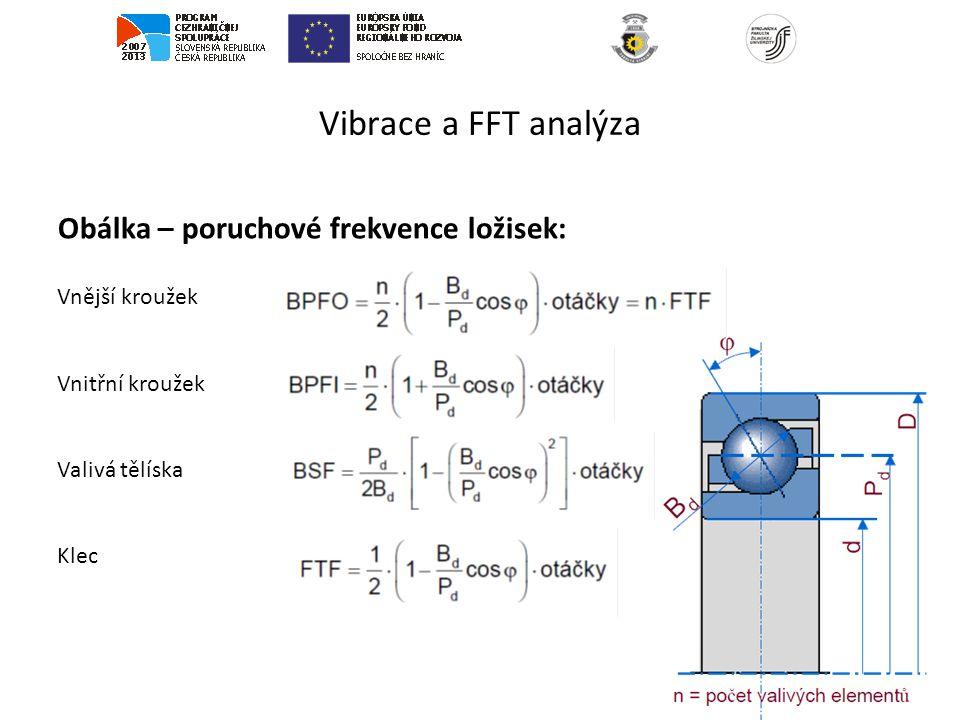Vibrace a FFT analýza Obálka – poruchové frekvence ložisek: