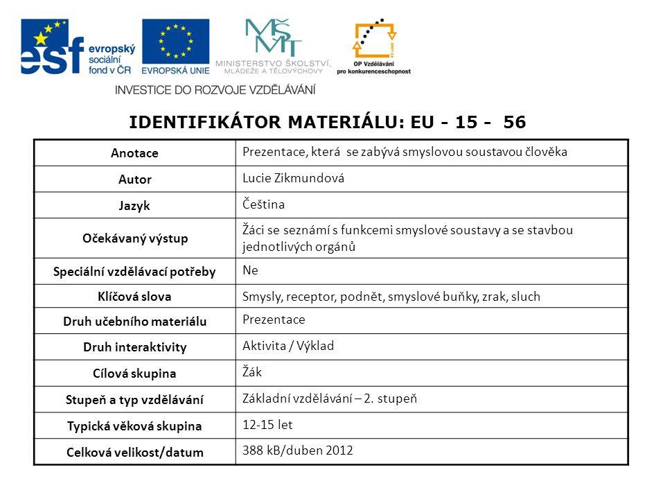 Identifikátor materiálu: EU - 15 - 56