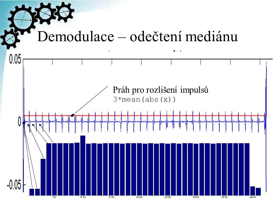 Demodulace – odečtení mediánu