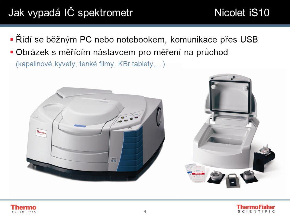 Jak vypadá IČ spektrometr Nicolet iS10