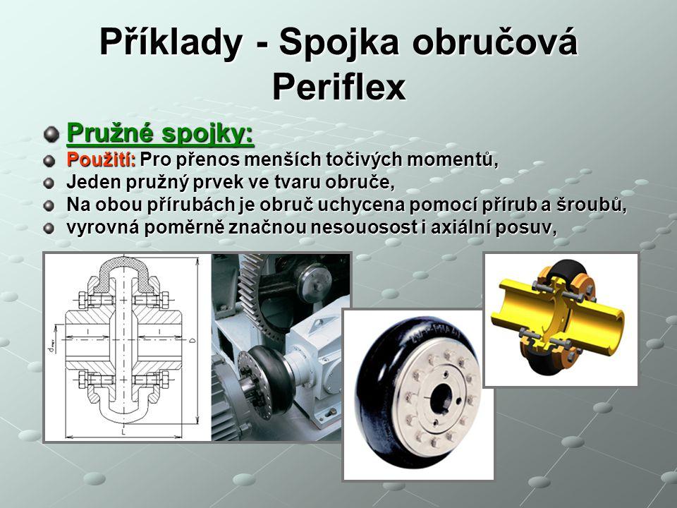 Příklady - Spojka obručová Periflex