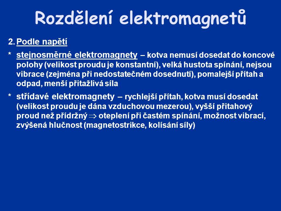 Rozdělení elektromagnetů