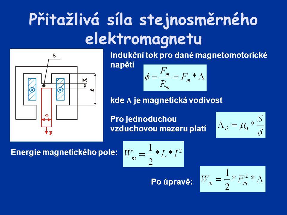 Přitažlivá síla stejnosměrného elektromagnetu