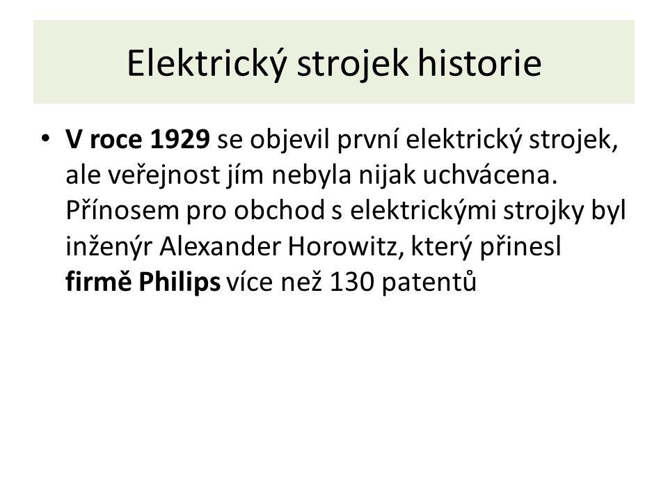 Elektrický strojek historie