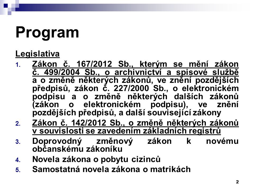 Program Legislativa.