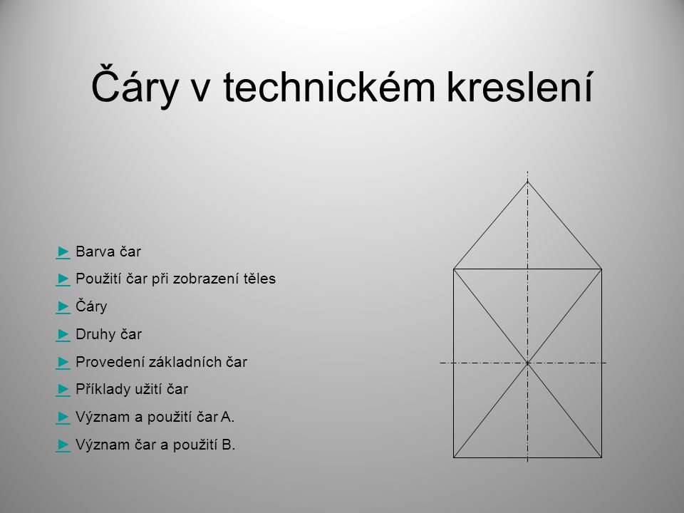 Čáry v technickém kreslení