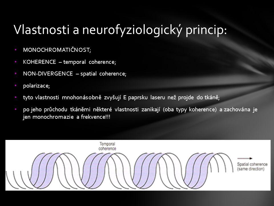 Vlastnosti a neurofyziologický princip: