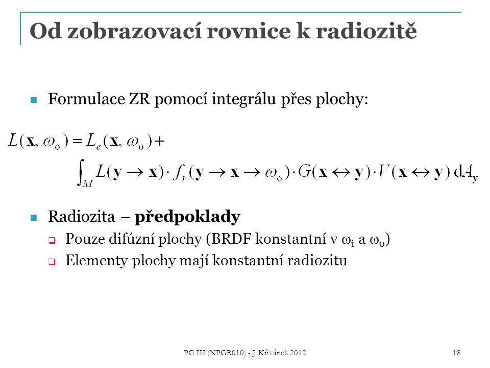 Od zobrazovací rovnice k radiozitě