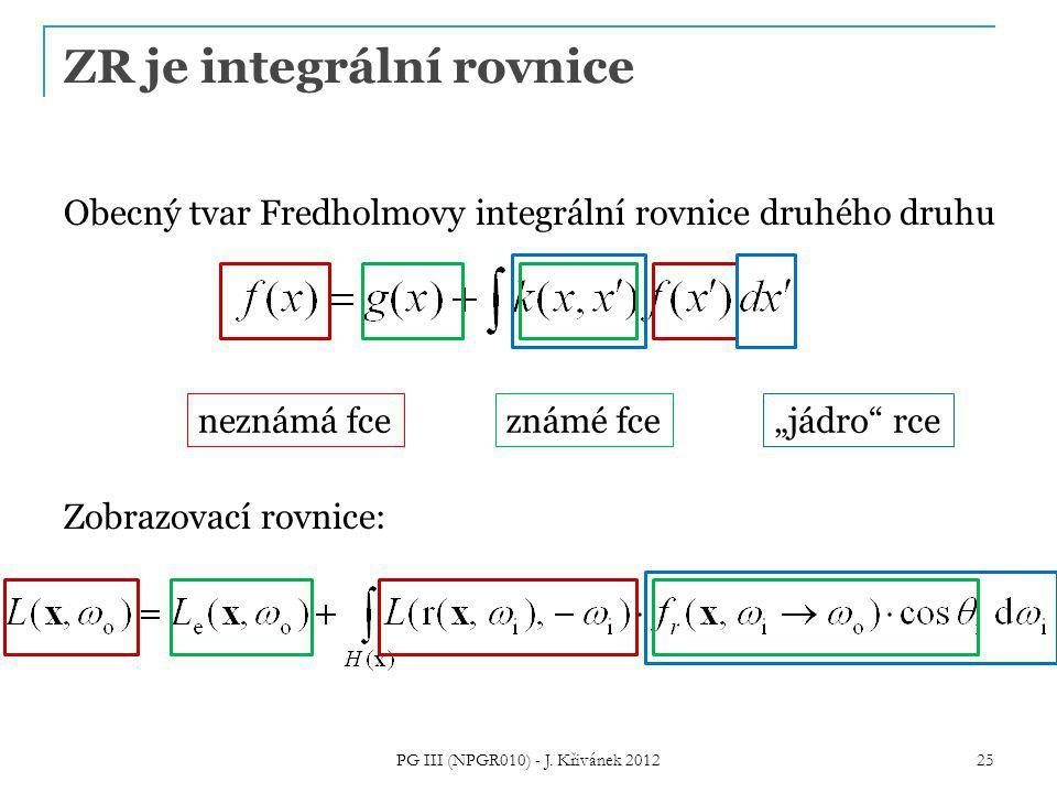 ZR je integrální rovnice