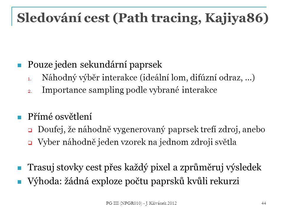 Sledování cest (Path tracing, Kajiya86)