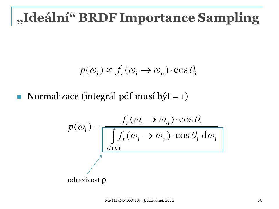 """""""Ideální BRDF Importance Sampling"""