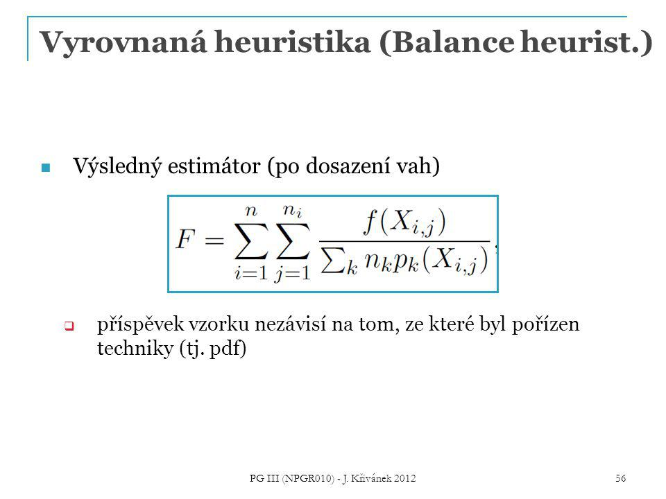 Vyrovnaná heuristika (Balance heurist.)