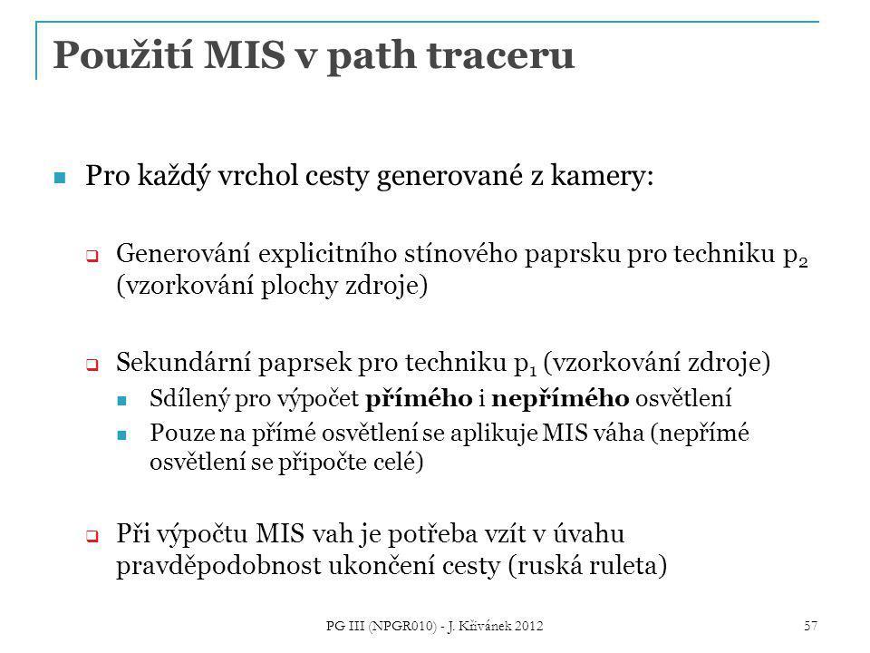 Použití MIS v path traceru
